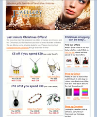 Jewellery of the Planet - Christmas Email