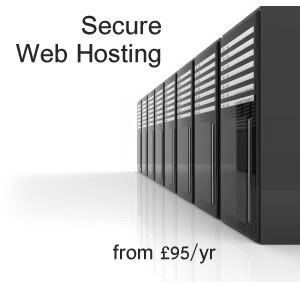 Secure Web Hosting from £95/year
